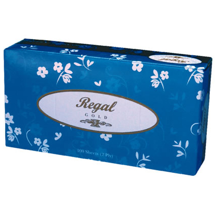 Regal Gold Soft and Gentle Facial Tissue 100's - 2 Ply