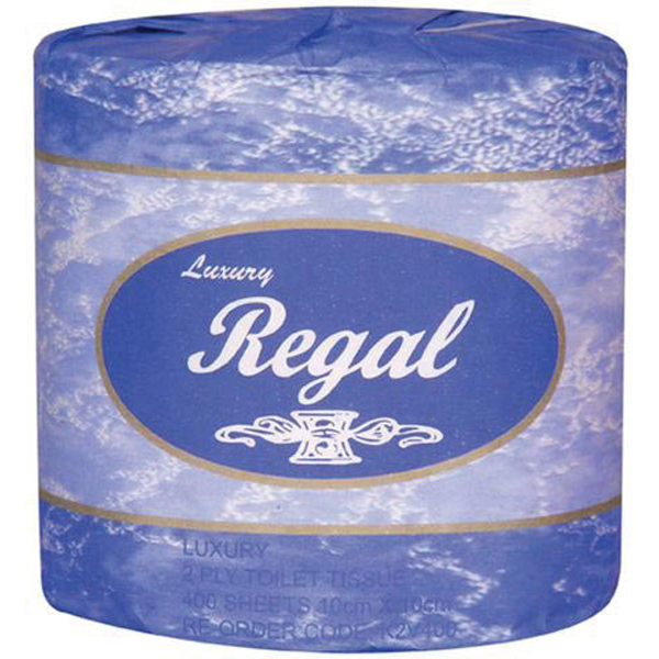 Regal Toilet Roll - 2 Ply 400 Sheet